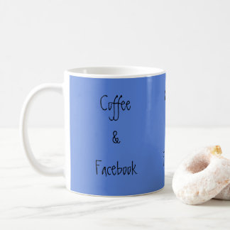Coffee and Facebook Coffee Mug