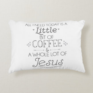 Coffee and Jesus Pillow