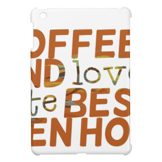 coffee and love funny cool humor joke cover for the iPad mini