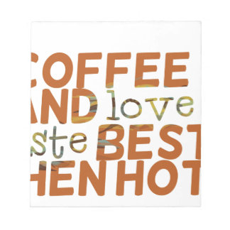 coffee and love funny cool humor joke notepads