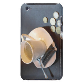 Coffee and money on a table barely there iPod cover