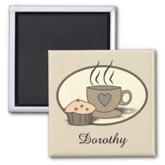 Coffee and Muffin Kitchen Magnet for Coffee Lovers