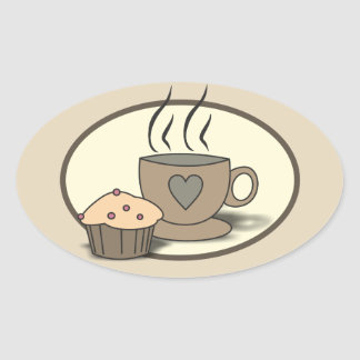 Coffee and Muffin Stickers for Coffee Lovers