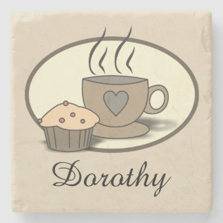 Coffee and Muffin Stone Coaster for Coffee Lovers