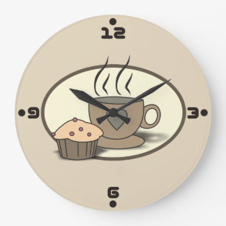 Coffee and Muffin Wall Clock for Coffee Lovers