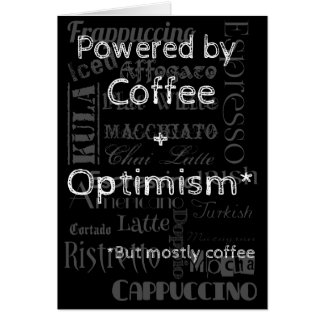Coffee and Optimism Card