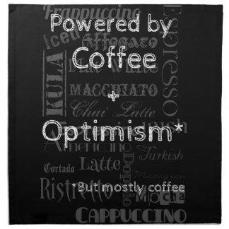 Coffee and Optimism Napkin
