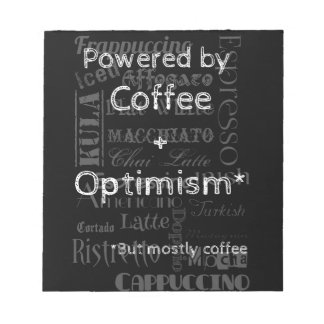 Coffee and Optimism Notepads