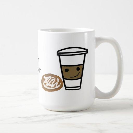 Coffee and Sweet with Cute Saying Mug