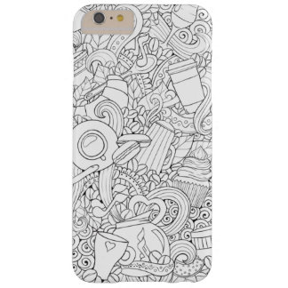 Coffee And Tea Doodle Barely There iPhone 6 Plus Case
