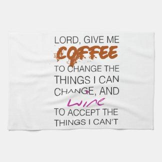 Coffee and Wine Tea Towel