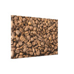 Coffee Background Stretched Canvas Prints
