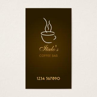 Coffee Bar Business Card