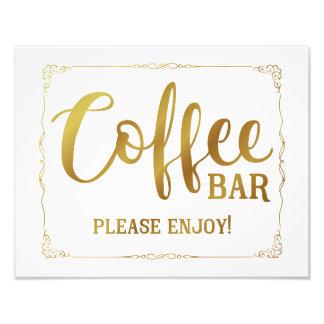 coffee bar wedding sign black photo art