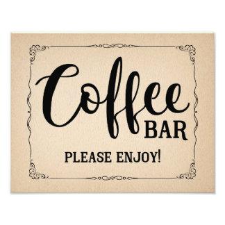 coffee bar wedding sign black photograph