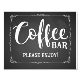 coffee bar wedding sign chalkboard