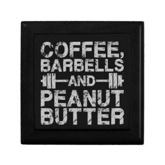 Coffee, Barbells and Peanut Butter - Funny Workout Gift Box