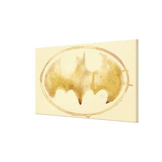 Coffee Bat Symbol Canvas Print