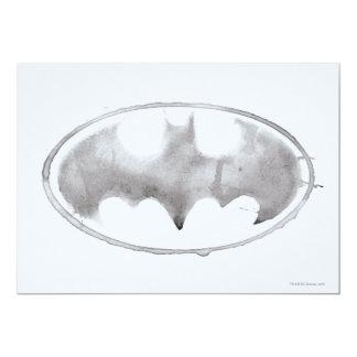 Coffee Bat Symbol - Gray 13 Cm X 18 Cm Invitation Card