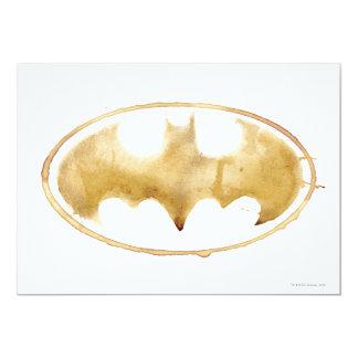 "Coffee Bat Symbol 5"" X 7"" Invitation Card"