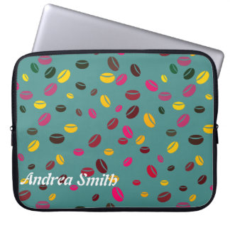 Coffee bean | Add your name Laptop Sleeves
