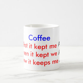 coffee bean, Alert Awake Alive Coffee Mug