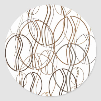 coffee bean blur classic round sticker
