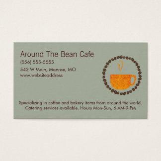 Coffee Bean Circle Business Card