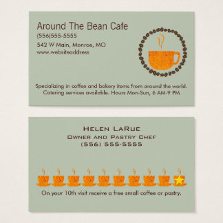 Coffee Bean Circle Loyalty Card