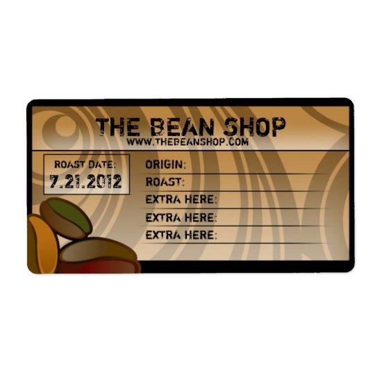 Coffee Bean Custom Coffee Labels