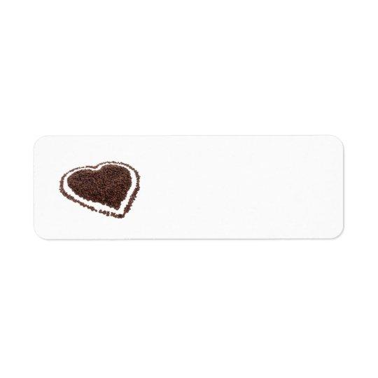 coffee bean heart Avery label Return Address Label