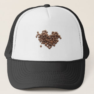 Coffee Bean Heart Trucker Hat