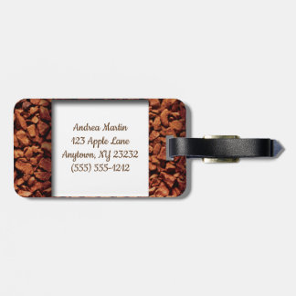 Coffee Bean Monogram Personalized Luggage Tag