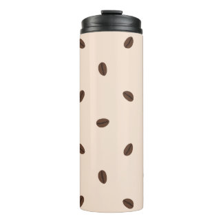 Coffee Bean Pattern Thermal Tumbler
