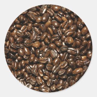 Coffee Bean Round Sticker