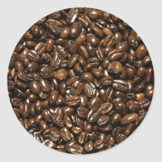 Coffee Bean Round Sticker