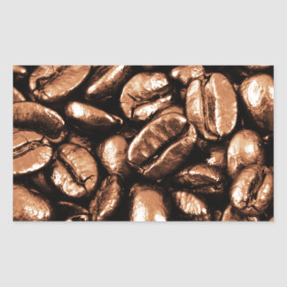Coffee Beans Abstract refreshment restaurant coca Rectangular Sticker