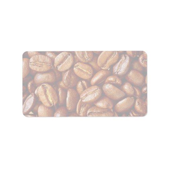 Coffee beans address label