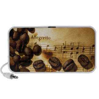 Coffee Beans and Music Notes Travelling Speakers