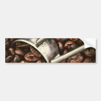 Coffee Beans and Scoop Bumper Sticker