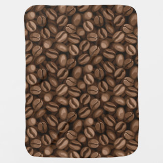 Coffee beans baby blanket