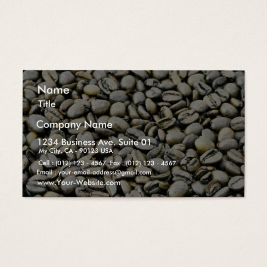 Coffee Beans Background Business Card