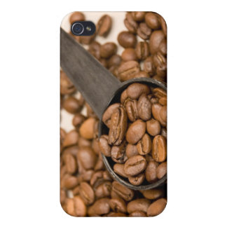 Coffee Beans Background Cases For iPhone 4