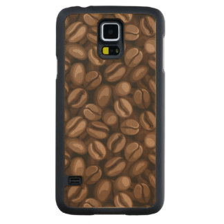 Coffee beans carved maple galaxy s5 case