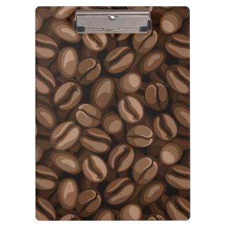 Coffee beans clipboard