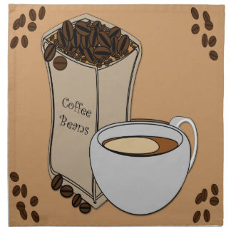 Coffee Beans Coffee Cup Design Cloth Napkins