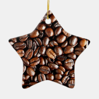 Coffee Beans Dark and Roasted Texture Pattern Christmas Ornament