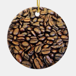 coffee beans round ceramic decoration
