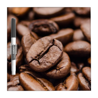 Coffee beans dry erase board