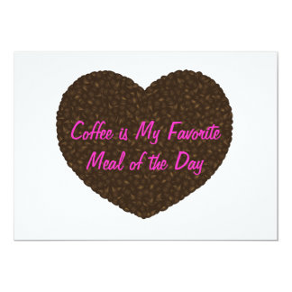 Coffee Beans Heart Shape Invitation